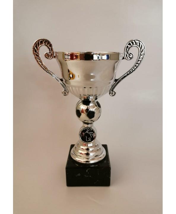 Trofeebeker M907 zilver voetbal **